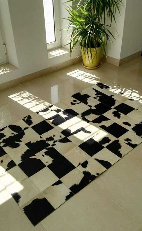 Cowhide and Leather Made Carpets
