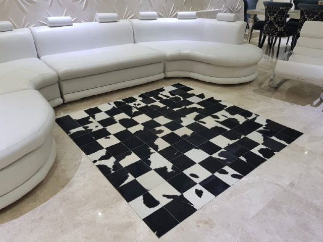 Cow Leather made Carpet for Living room