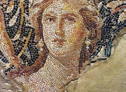 Mosaic Drawing Canva Carthage queen Didon