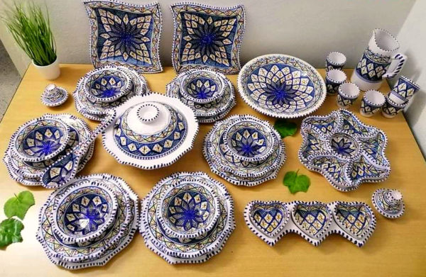Table Kit of Ceramic Dishes Plates and Cups