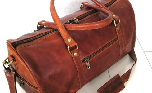 Soft Brown Leather made Duffle